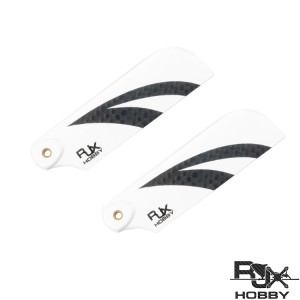 RJXHOBBY Black and White 70mm Tail CF Blades