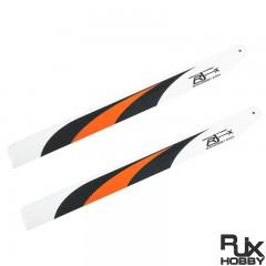 RJX Orange 380mm CF Blades FBL Version For T-REX 470L Gaui X3L GARTT ALZRC SAB Goblin
