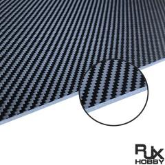 RJX 1+2+1mm PMI Foam Core Twill Matte Carbon Fiber Sheet