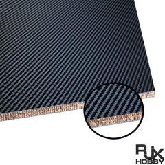 RJX 1+2+1mm Nomex Honeycomb Twill Matte Carbon Fiber Sheet