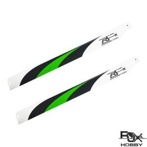 RJX Vector Green550mm Premium CF Blades-FBL Version