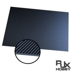 RJXHOBBY 3K 100% Full Carbon Fiber Sheet 250x400x0.5-4.0mm(Cross grain, Matte surface )